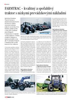 FARMTRAC – kvalitný a spoľahlivý traktor s nízkymi prevádzkovými nákladmi