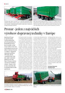 Pronar - jeden z najväčších výrobcov dopravnej techniky v Európe