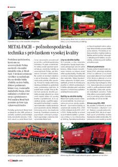 METAL-FACH – poľnohospodárska technika s prívlastkom vysokej kvality
